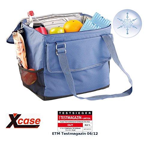 Xcase Mini Kühlbox: Elektrische 12-V-Thermo-Kühltasche fürs Auto, 35 l (Elektrische Kühltasche faltbar)