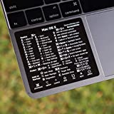 SYNERLOGIC Mac OS X (and Big Sur) Reference Keyboard Shortcut Sticker - Black Vinyl Size 3'x2.5'- Fits Any MacBook A1466 A1465 A1398 A1278 A1502 A1706 A1707 A1708 A1534 A1989 A2159 A2289 A1990 A2141