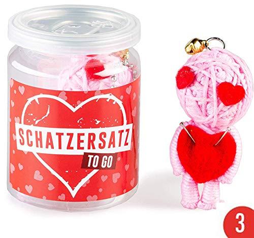 3er-Pack: Voodoo Doll in Dose | lustige Mini-Voodoo-Puppe to go | SCHATZERSATZ Voodoo-doll | unverzichtbar wenn der richtige Schatz unterwegs ist, bei Liebeskummer oder Problemchen mit dem Ex