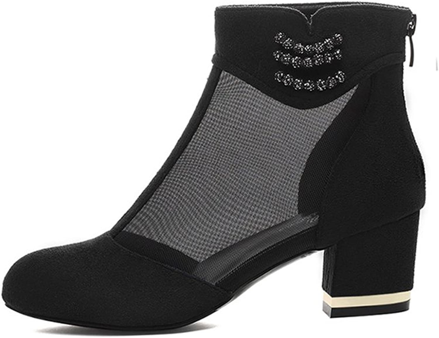 XUERUI Joker New Single shoes Spring shoes Spring Summer High Heel with Thick with High Heels (color   Black, Size   EU36 UK3.5 CN35)