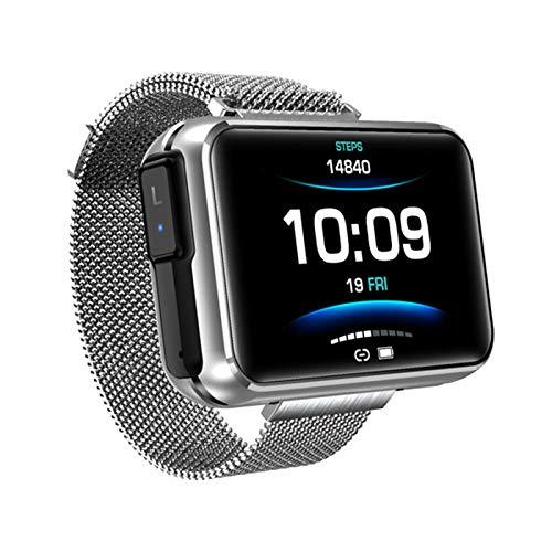 JXFF Smart Watch, T91 2 En 1 TWS Inalámbrico Bluetooth Auriculares para Hombres 1,4 Pulgadas Pantalla De Bricolaje Grande Bluetooth 5.0 Tracker Smartwatch (para Android iOS),A