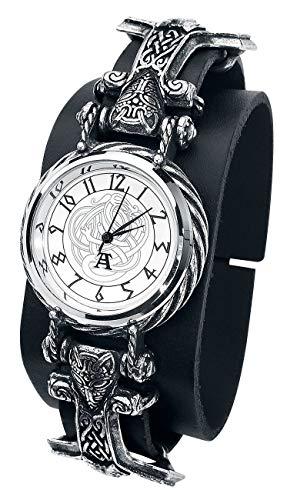 Alchemy Gothic Thorgud Ulvhammer Unisex Relojes Standard, Piel,