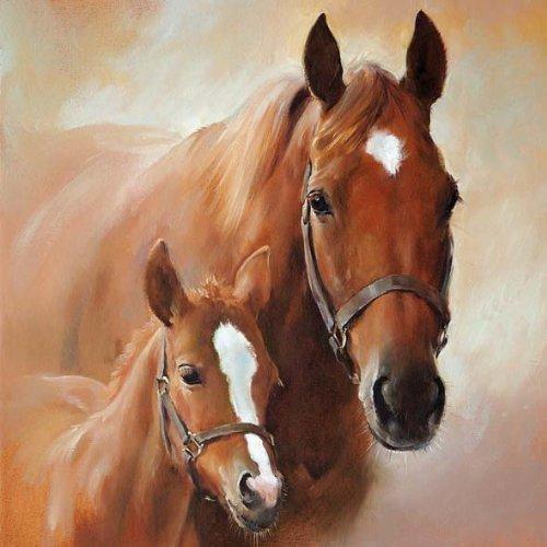 Ambiente Serviette Pferd mit Fohlen 20 Servietten pro Packung