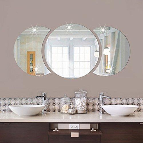 Mddjj spiegel muur Stickers Diy ronde wastafel spiegel 3D acryl huis decoratie spiegel muur Stickers