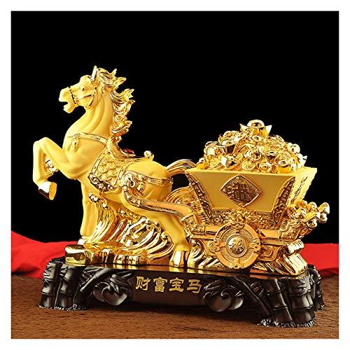 Figuritas de Fengshui Estatuas Feng Shui Prosperidad Riqueza china del zodiaco estatua estatua del caballo decoración del hogar atraer la riqueza y buena suerte, Feng Shui Decoración Escultura de pros