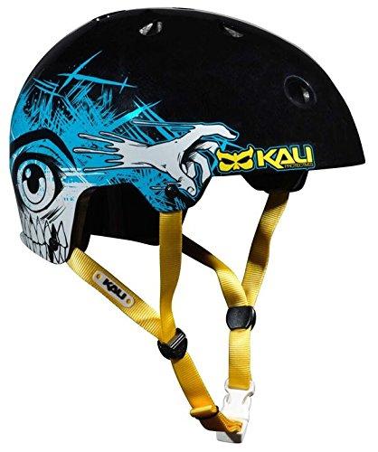 Kali Protectives Maha BMX Helmet-maha Monster, Color Negro, tamaño Mediano, Casco, Unisex, Color Maha Monster Black, tamaño Large