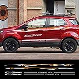 Piaobaige 1セット車のドア側防水トリムステッカーViny PVCデカールフォードエコスポーツ自動車ボディ装飾反射車のアクセサリー