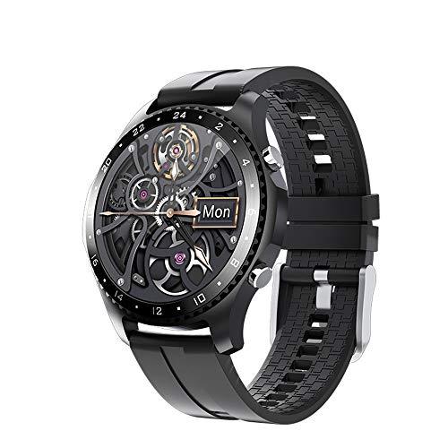 WuMei101 Relojes inteligentes para hombres y mujeres, adecuados para teléfonos IOS de Android, rastreador de fitness con toque completo de 1.28 pulgadas, rastreador de actividades impermeables IP67, s