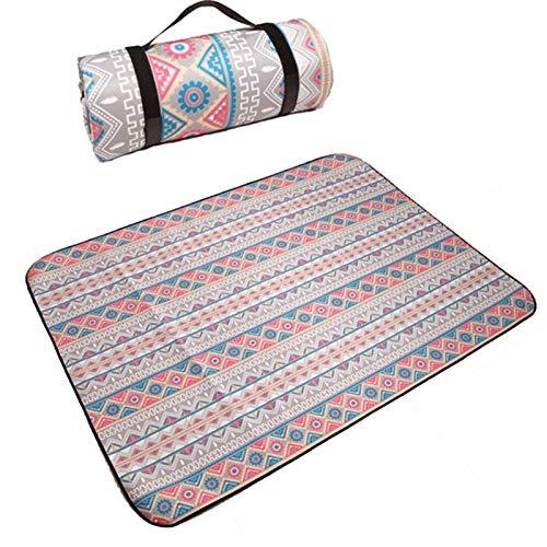 TOPmontain Manta de picnic al aire libre impermeable manta de gateo para bebé, a prueba de arena, tapete de playa Oxford tela familiar plegable para acampar, senderismo, viajes, festivales