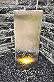 Jürgen Bocker Gartenambiente Wasserwand 'Husum', Edelstahl matt gebürstet, LED-Beleuchtung, Pumpe, PE-Becken, GFK-Abdeckung 180 x 50 x 60 cm