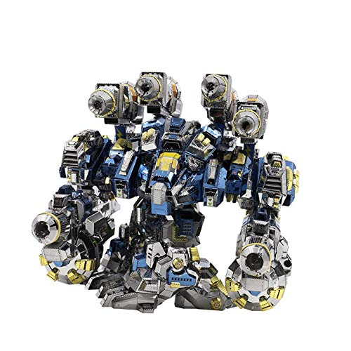 Metal 3D Puzzle, Starcraft Thor Armor DIY Monta Kits de Edificio Modelo Laser Cut Jigsaw Toy, Adultos Kits de Edificio Modelo de Acero Inoxidable niños, 383 Pieces