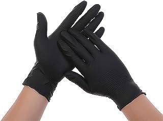 InnooCare 100 Pcs Nitrile Disposable Gloves, Black Gloves Latex Free Powder-free Nitrile Exam Gloves Heavy Duty, Black(M Size)