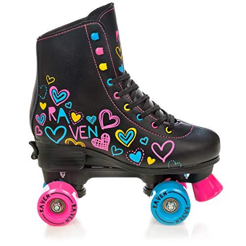 RAVEN Rollschuhe Roller Skates Trista Black 35-38 (22,5cm-24cm)