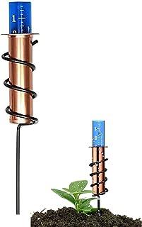 SKXZK Misuratore di Pioggia Galleggiante, misuratore di Pioggia in Rame, accurato pluviometro Galleggiante per Cortile, te...