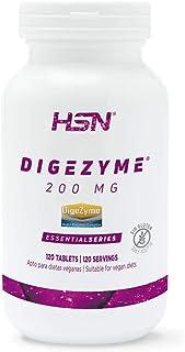 Digezyme de HSN | 200mg | Complejo de Enzimas Digestivas, Ayuda en la Digestión y Mejora la Absorción de los Nutrientes | Vegano, Sin Gluten, Sin Lactosa, 120 tabletas