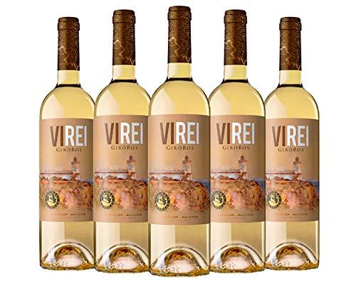 Vino blanco VI REI GIRO ROS. IGP Vi de la Terra Mallorca Variedad de uva: Giro Ros. Pack de 6 botellas.