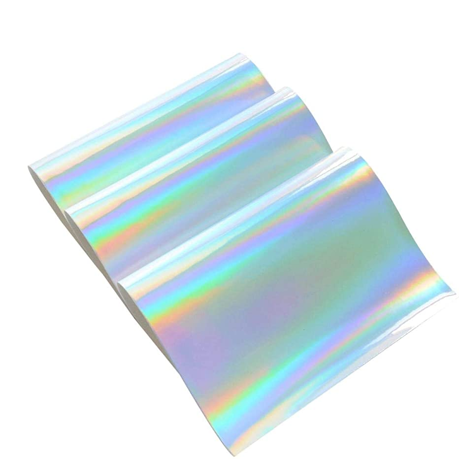 3 Pieces A4 Size Silver Holographic Faux Leather Fabric Sheets Cotton Back for Hair Bows Making, Hair Clips Making, Headband Making, Kids' Crafts Making, Hat Making, Hair Crafts, Shoe Making