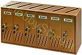 Blinky 2735806 Casellari Postali in Alluminio Ramato, K6 6-Box, 62x17.5x30...