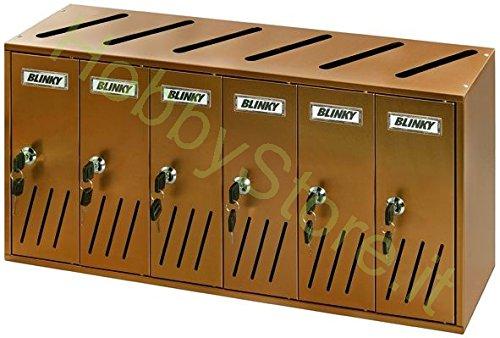 Blinky 27358 – 06 – strafrecht postkaart aluminium Auburn, K6 6-box, 62 x 17,5 x 30