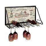 Botelleros y armarios para vino Estante de Vino Colgante de Pared de Hierro Forjado Estante de Restaurante casero Estante de Vino Estante de Vino Barra de la Sala de Estar Colgante de Vino Botelleros