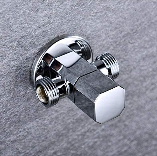 Valvola a globo in ottone massiccio 1 in 2 out con valvola a triangolo di alta qualità a parete per rubinetteria per WC con rubinetto esterno G1 / 2
