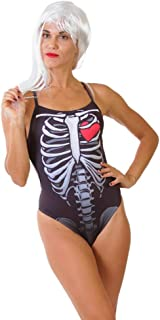 ZUMO Women's X-Ray Print One-Piece Workout Swimsuit, Competitive & Training One Piece Swimwear, Athletic Bathing Suit