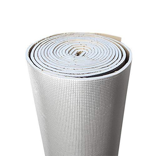 XIAOBAI Papel de Aluminio de 6mm de Espesor + silenciador de algodón para Coche, Interior, Aislamiento acústico, Estera de amortiguación insonorizada