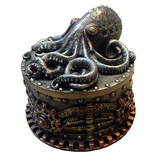 Dark Dreams Gothic Steampunk Octopus Box Schatulle Figur Boxtopus Krake Dekoration Ambiente Geschenkidee