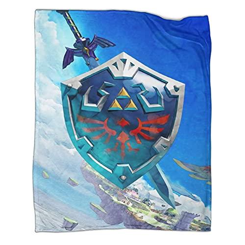 Trelemek Manta con diseño de espada Skyward de la leyenda de Zelda, 130 x 180 cm, ligera, súper suave, acogedora manta para sofá, cama, sala de estar, camping, todas las estaciones
