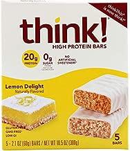 thinkThin High Protein Bars Lemon Delight - 5 Bars (one pack)