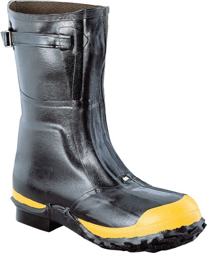 "Ranger Lineman's Zip Pac 12"" Heavy-Duty Insulated Rubber Men's Work Boots with Steel Toe & Steel Midsole, Black & Yellow (21622)"