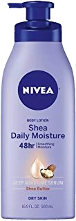 Nivea Daily Moisture Shea Butter Body Lotion 16.9 Ounce (Value Pack of 2)