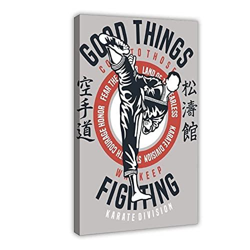 Póster de lona de lucha contra artes marciales, decoración