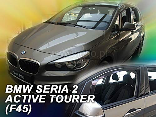 J&J AUTOMOTIVE | Deflecteurs d'air déflecteurs de Vent Compatible avec BMW Série 2 F45 2015-prés 2 pièces