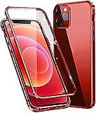 "Vidrio Templado HD Clara Funda con protección de Lente cámara para iPhone 12 Mini 5G 5.4"",Compatible con Magnético Parachoques Estructura de Metal,protección de 360 Grados,Anti-Choques Cover"