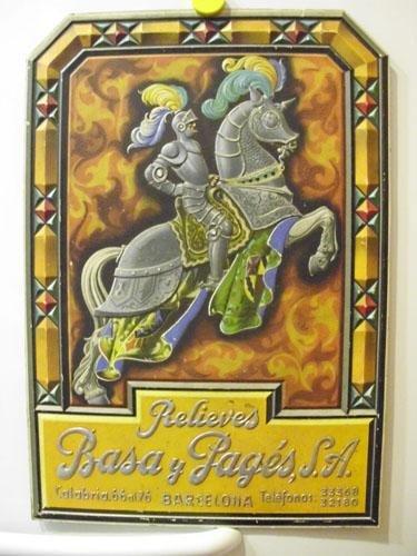 Antiguo Cartel Publicidad - Old Advertising Poster : RELIEVE