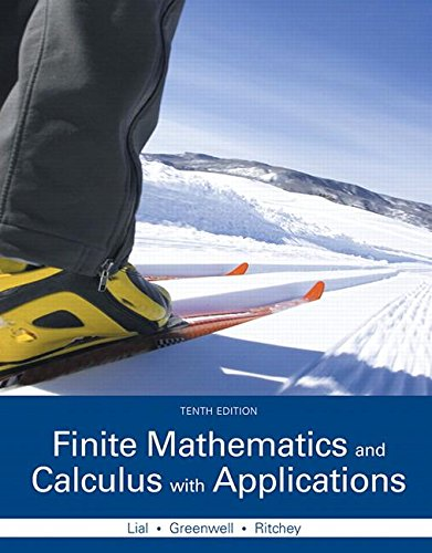 Compare Textbook Prices for Finite Mathematics and Calculus with Applications Plus MyLab Math with Pearson eText -- Access Card Package Lial, Greenwell & Ritchey, the Applied Calculus & Finite Mat 10 Edition ISBN 9780133981070 by Lial, Margaret,Greenwell, Raymond,Ritchey, Nathan
