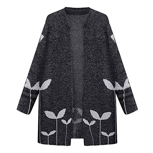 Lowest Prices! Pumsun Women's Fashion Casual Winter Plus Size Leaf Lady Knit Cardigans Outcoat Coat ...