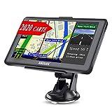 AWESAFE GPS Voiture 7 Pouce L'écran Tactile 48 Cartes de Pays/régions d'europe sont préinstallées, avec Un kit Mains Libres Bluetooth, et des Cartes de l'Amérique du Nord Peuvent être téléchargées