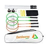 OutdoorsyJimmy Complete Badminton Sets for Backyards - Premium Set Includes Badminton Rackets Set of...