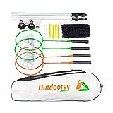 OutdoorsyJimmy Complete Badminton Sets for Backyards - Premium Set Includes Badminton Rackets Set of...