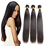 Brazilian Bundles Straight Long Weave Hair Human Bundles Thick And Soft Hair Natural Black Color 8a Grade No Smell Tangle Free Unprocessed Virgin Hair 20 22 24 Inch