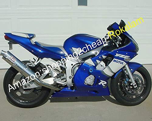 Carénage bleu blanc personnalisé pour YZF-R6 1998-2002 YZF R6 98-02 pièces de carénage de moto (moulage par injection)