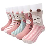 Adorel Calzini Antiscivolo Bambini Neonati confezione da 6 Multicolore 1-3 Anni