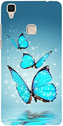 Casotec Flying Butterflies Design 3D Printed Hard Back Case Cover for Vivo V3
