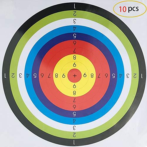 10 Piezas de Tiro con Arco de Objetivo, Objetivo de Práctica de Objetivo 45x45 cm Tradicional Arco de Tiro con Arco de Tiro al Blanco Para Tiro con Arco de Deporte al Aire Libre, Arco y Tiro de Dardo