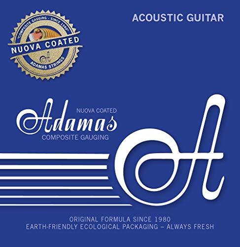 Adamas Cuerdas para Guitarra Acústica Nuova Cuerdas Sueltas de Acero con Recubrimiento .011