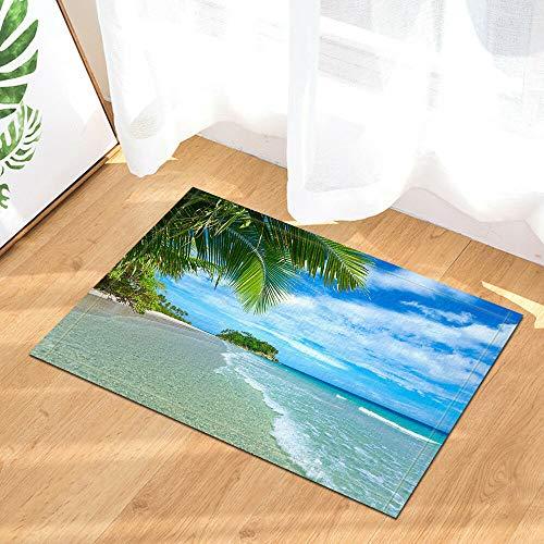 rrrrrr Sunshine Surf Beach Decoración de baño Tela Ches 60 * 40CM