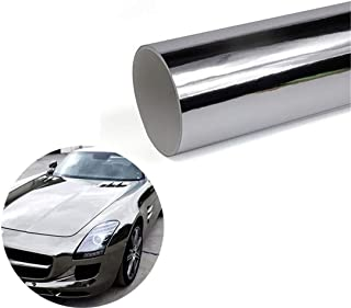 ECYC Silver Vinyl Wrap Car Body Mirror Silver Glue Sticker Decal Auto Chrome Foil Wrap Covers
