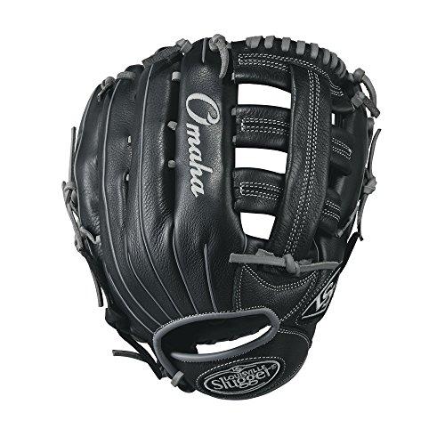 Louisville Slugger Omaha Baseball Handschuhe, schwarz/grau